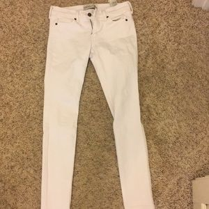 Abercrombie and Fitch super skinny white jeans